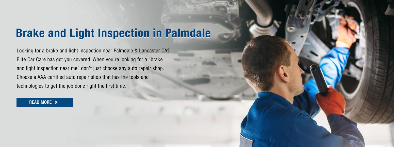 Brake and Light Inspection in Palmdale